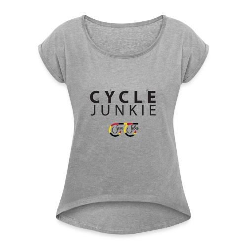 Cycle Junkie San Seba - Vrouwen T-shirt met opgerolde mouwen