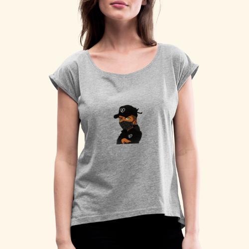 DOPEY - Dame T-shirt med rulleærmer