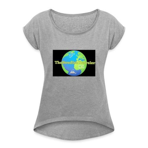 The Swedish Traveler - T-shirt med upprullade ärmar dam