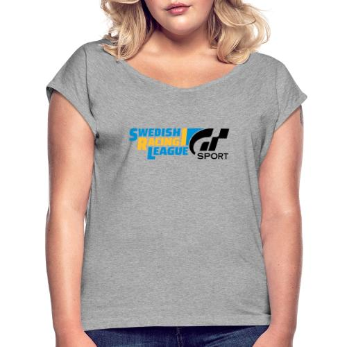 Swedish Racing League GT Sport svart - T-shirt med upprullade ärmar dam