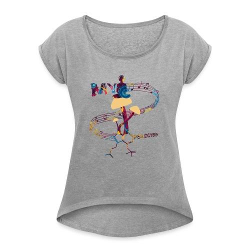 My Psilocybin (Dark) - T-shirt med upprullade ärmar dam