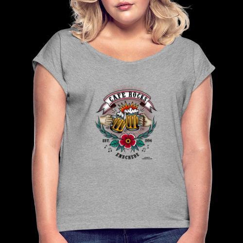 Old School Tattoo by Alexandra Apeldoorn - Vrouwen T-shirt met opgerolde mouwen