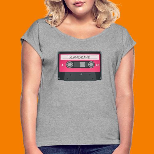 Blandband 80-tal - T-shirt med upprullade ärmar dam