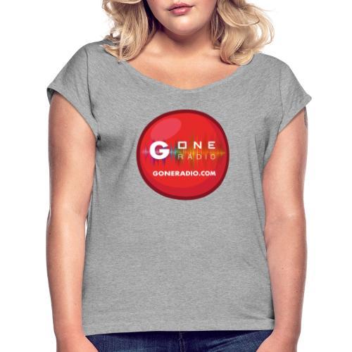 G ONE RADIO.COM - T-shirt à manches retroussées Femme