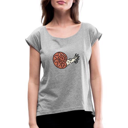 Ammonite - Frauen T-Shirt mit gerollten Ärmeln