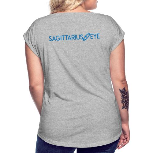 Sagittarius Eye Dual Branded - Women's T-Shirt with rolled up sleeves