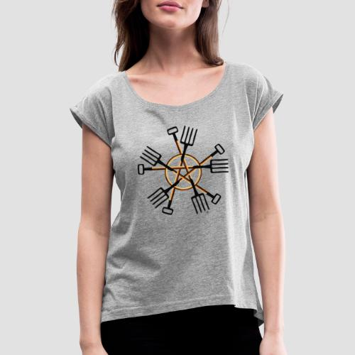 PAGAN GARDENER - Women's T-Shirt with rolled up sleeves