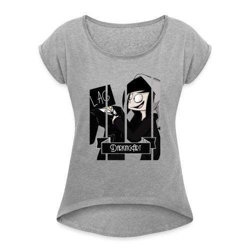 Remera con diseño - Camiseta con manga enrollada mujer