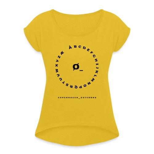 Østerbro - Dame T-shirt med rulleærmer