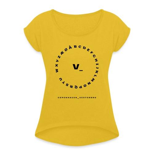 Vesterbro - Dame T-shirt med rulleærmer