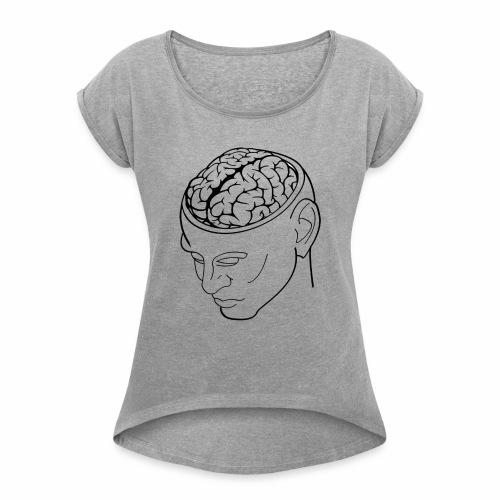 capoccia - Maglietta da donna con risvolti