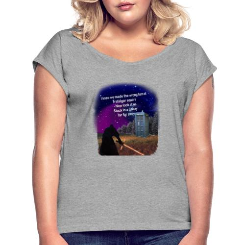 Bad Parking - Women's T-Shirt with rolled up sleeves