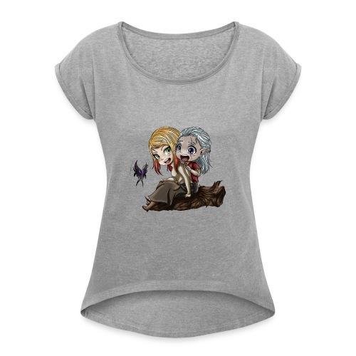 Amis d'Enfance - T-shirt à manches retroussées Femme