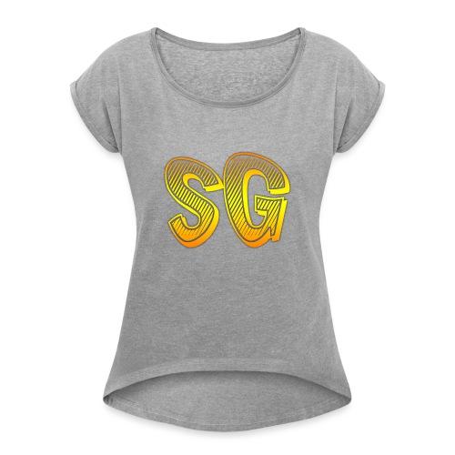 SG Donna - Maglietta da donna con risvolti