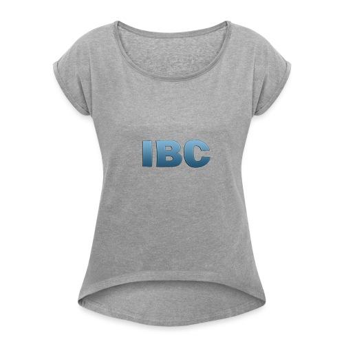 Ibc Shirt t/m maat 164 - Vrouwen T-shirt met opgerolde mouwen