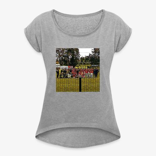 Footbal Match Squadre Calcio - Maglietta da donna con risvolti