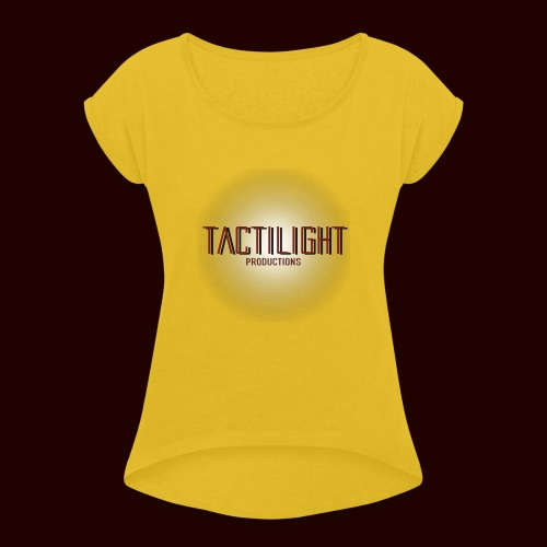 Tactilight Logo - Women's T-Shirt with rolled up sleeves