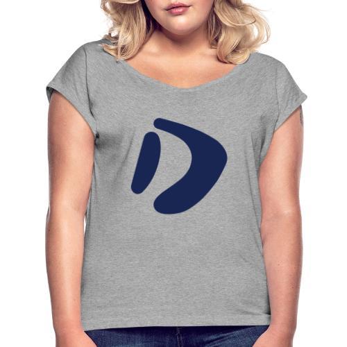 Logo D Blue DomesSport - Frauen T-Shirt mit gerollten Ärmeln