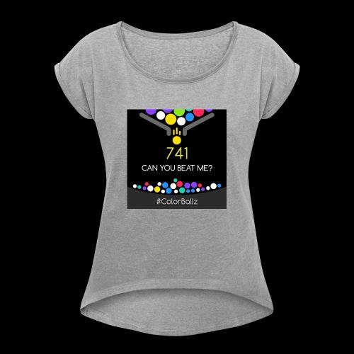 color ballz - T-shirt à manches retroussées Femme