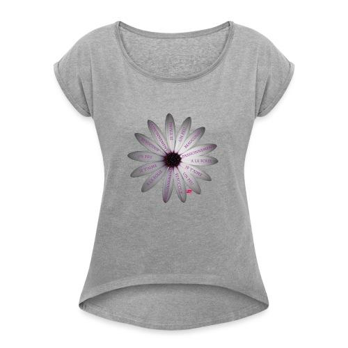 Marguerite - T-shirt à manches retroussées Femme