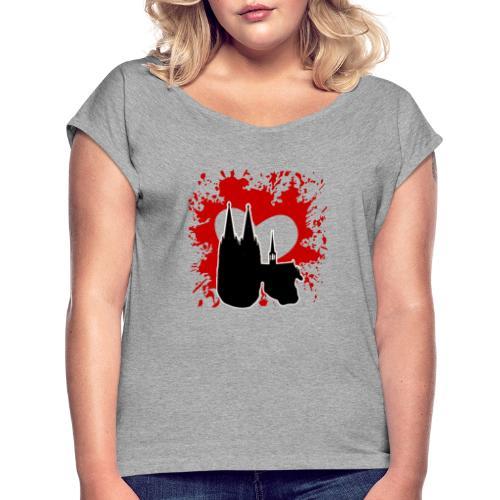 Koelle Love - Frauen T-Shirt mit gerollten Ärmeln