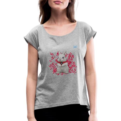 Chic Bunny - Women's T-Shirt with rolled up sleeves