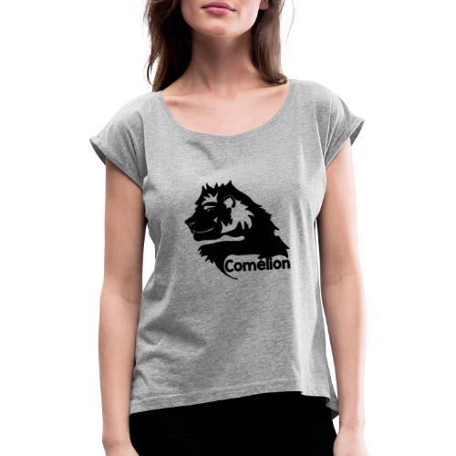 Comélion Carte du Sénégal - T-shirt à manches retroussées Femme