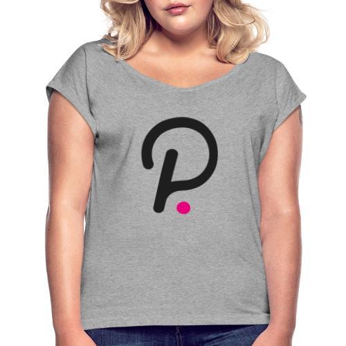 Polkadot - T-shirt med upprullade ärmar dam