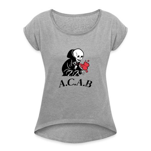 la mort - T-shirt à manches retroussées Femme