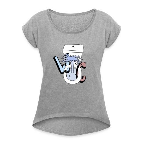 WekelijkseContent Sweater - Vrouwen T-shirt met opgerolde mouwen