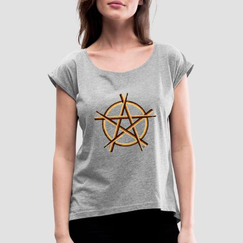 PAGAN DRUMMER - Women's T-Shirt with rolled up sleeves