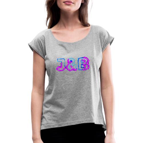 J&B Neon - Frauen T-Shirt mit gerollten Ärmeln