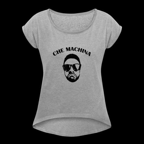 CHE MACHINA - Maglietta da donna con risvolti