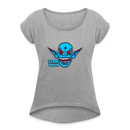 Team Bergsten logo - T-shirt med upprullade ärmar dam