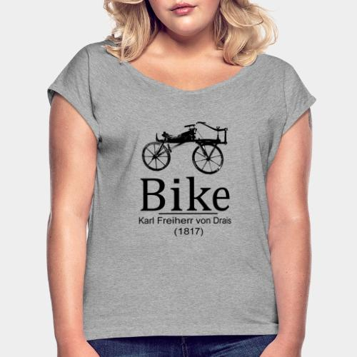 Bike - Camiseta con manga enrollada mujer