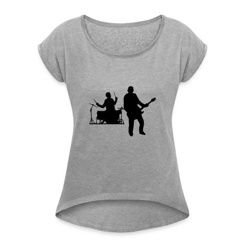 Beat - Naisten T-paita, jossa rullatut hihat