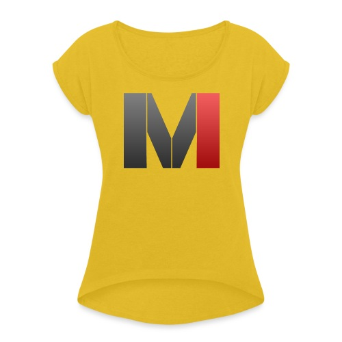 MrGank LOGO - Women's T-Shirt with rolled up sleeves