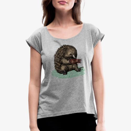 Echidna - Women's T-Shirt with rolled up sleeves