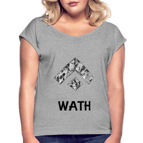 Diseño nombrado - Camiseta con manga enrollada mujer