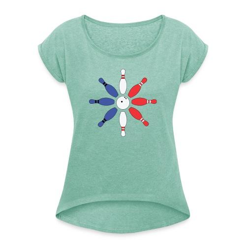 Roue de Quilles - T-shirt à manches retroussées Femme