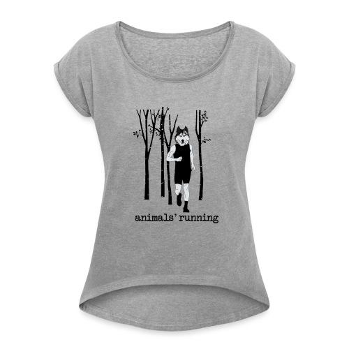 Loup running - T-shirt à manches retroussées Femme