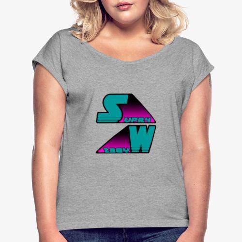 SUPR4 WYBES - T-shirt à manches retroussées Femme