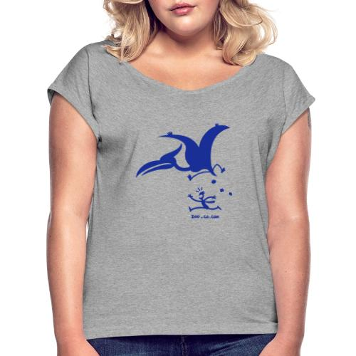 Catastrophicus Pterodactylus - Women's T-Shirt with rolled up sleeves