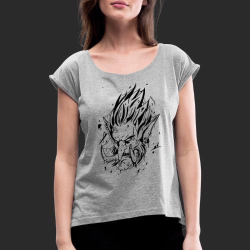 Troll style tattoo - T-shirt à manches retroussées Femme