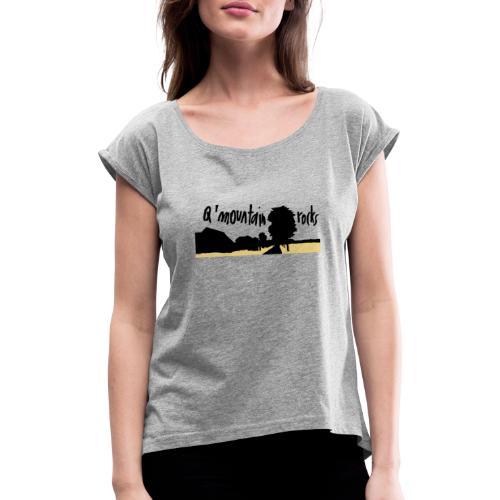 qmountain 02 - Frauen T-Shirt mit gerollten Ärmeln