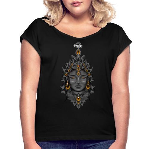 Duke Tattoo Fantasy Witch by Gideon - Vrouwen T-shirt met opgerolde mouwen
