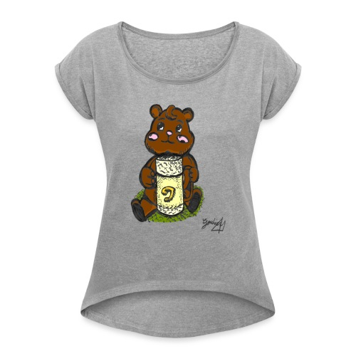 Ours Simple - T-shirt à manches retroussées Femme