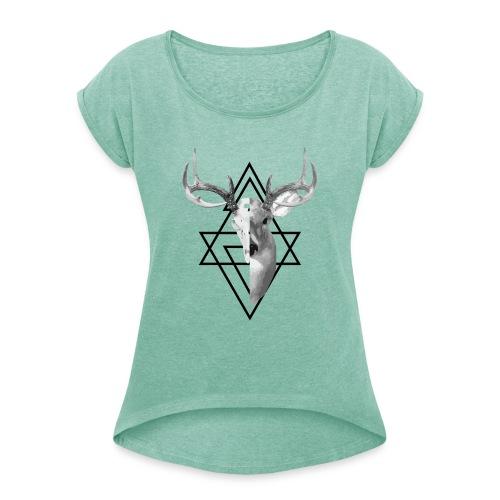 My Deer - Naisten T-paita, jossa rullatut hihat
