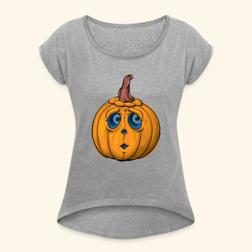 Kuerbis 20 5 19 - Frauen T-Shirt mit gerollten Ärmeln