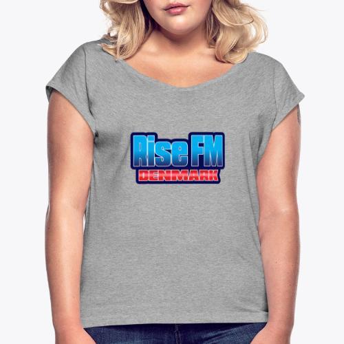 Rise FM Denmark Text Only Logo - Dame T-shirt med rulleærmer